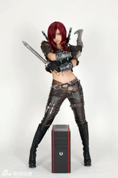 tasha lol卡特琳娜cos,超凡魅力无敌霸气 点击查看更多cosplay高清图片