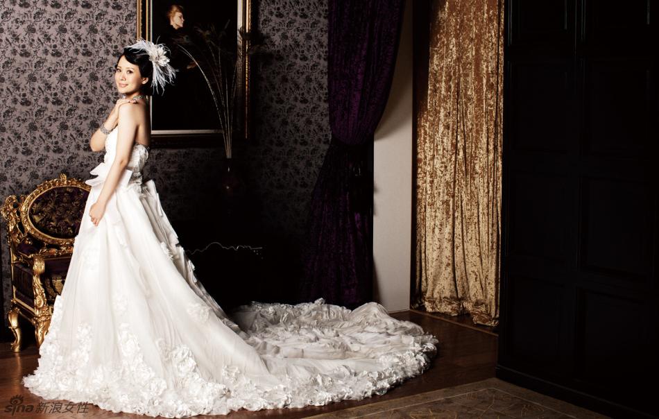 海清纯美婚纱