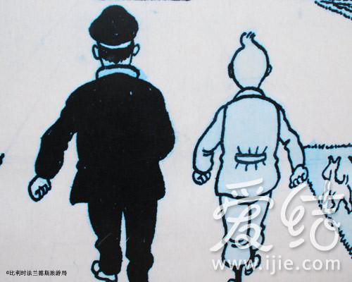 甚至连街道也被冠以漫画人物的名字.(文字/小小子 图片/比利时法图片