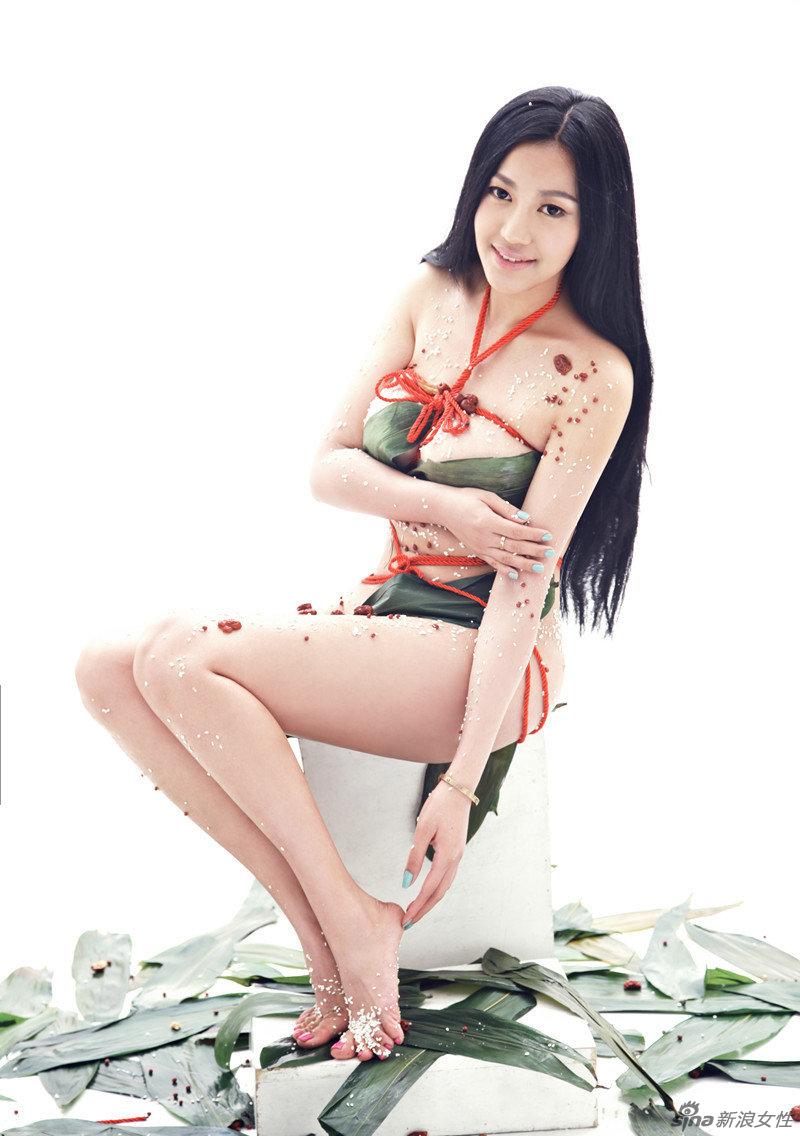 第一G奶女神 粽香女体盛 红绳捆绑