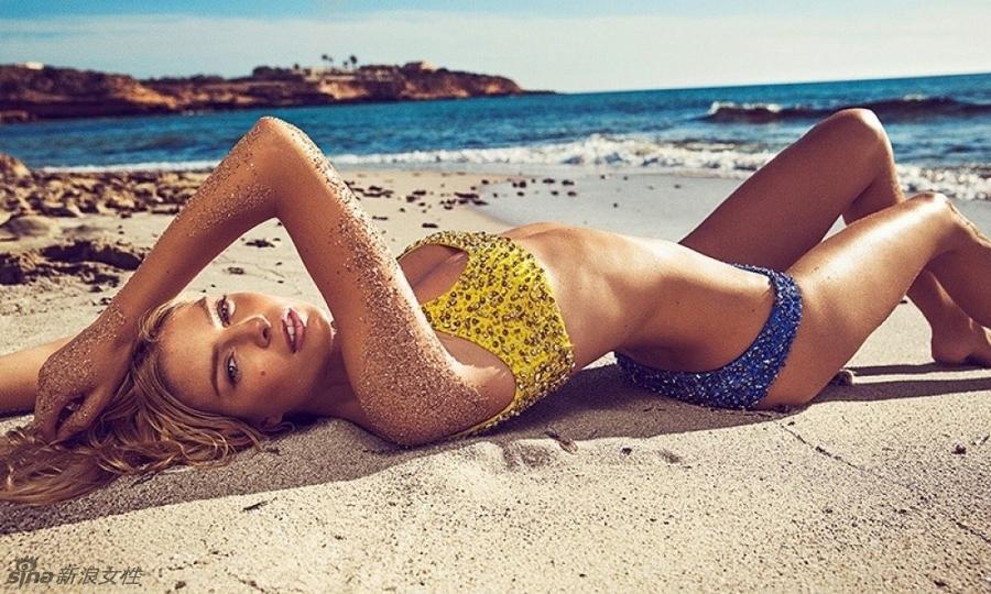 【孤暧网】西班牙超模性感沙滩秀热辣诱人