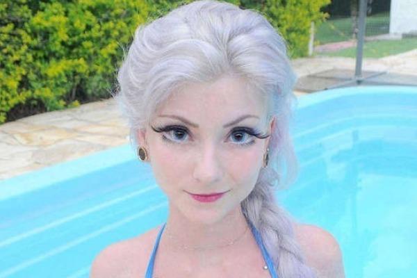 巴西美人神似冰雪公主