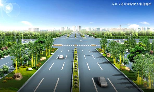 肥西县、高新区到新桥国际机场的东西向交通要道,方兴大道将继