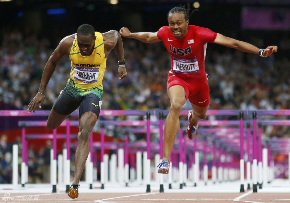 110米栏梅里特夺得冠军 罗伯斯未能完赛