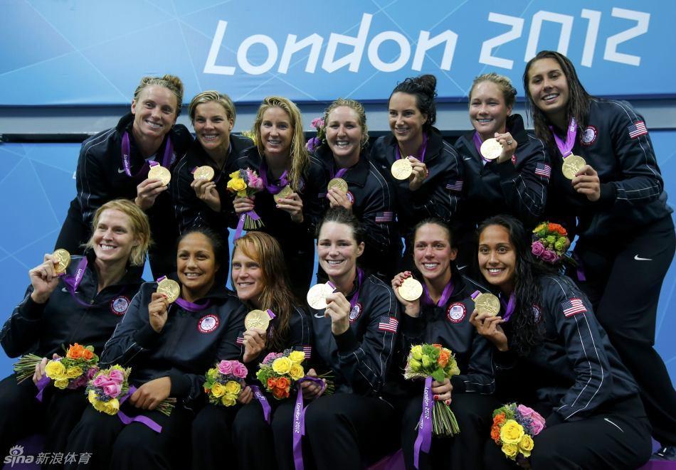 女子水球美国队夺冠 中国获第五名