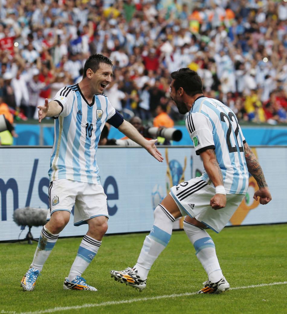 世界杯 阿根廷3 2尼日利亚 梅西穆萨梅开二度