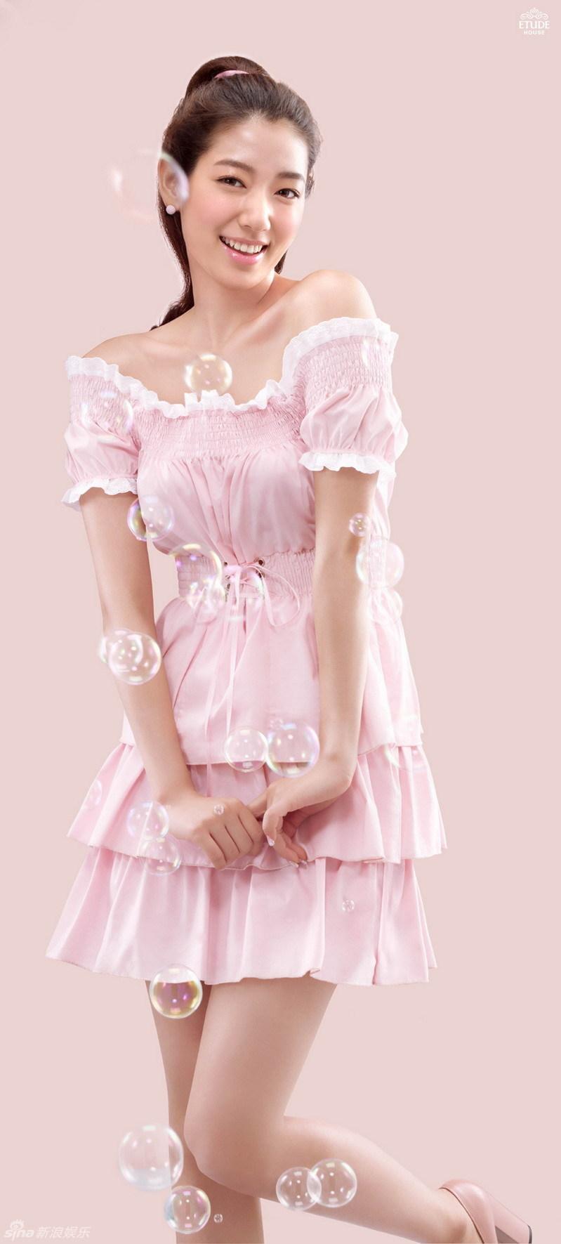 朴信惠少女装扮写真