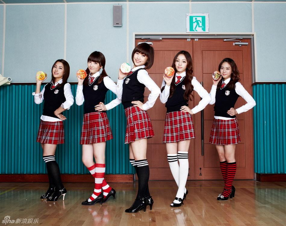韩国人气女子团体kara