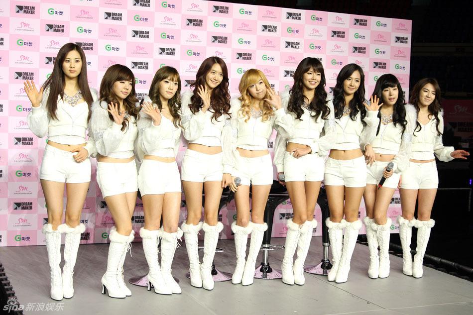 韩国人气女组合少女时代亚洲巡回演唱会的首站