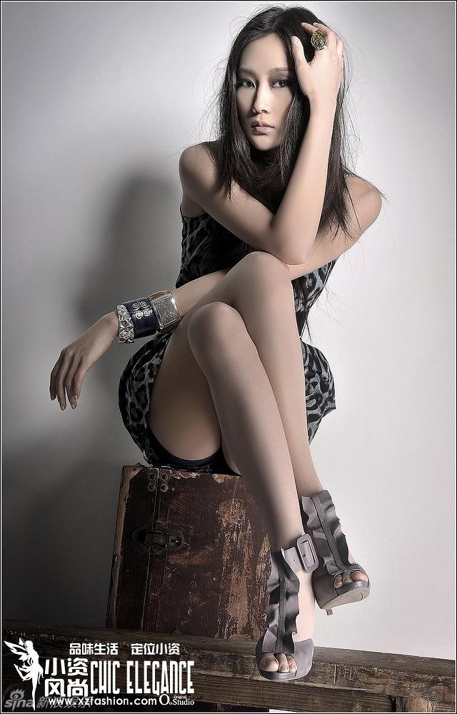 此次曝光的照片,是林鹏为某杂志拍摄的一系列图片