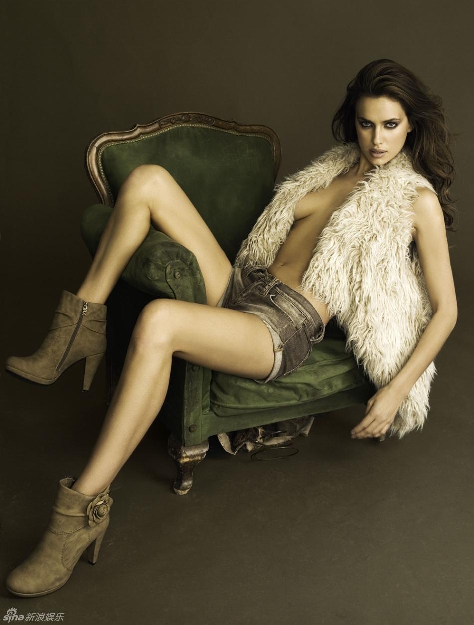 高清图 C罗女友伊莉娜 沙伊克写真热裤秀美腿
