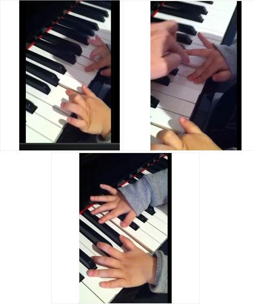 """小半钢琴谱子-日前网上流出一组""""锋芝""""两爱子兄弟友爱照.照片中,1岁半的"""
