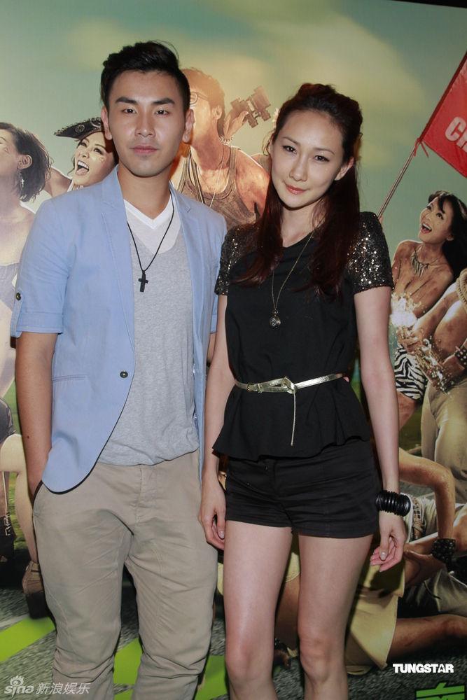 9月11日,电影《一路向西》在香港举行首映礼,一众演员包括何佩