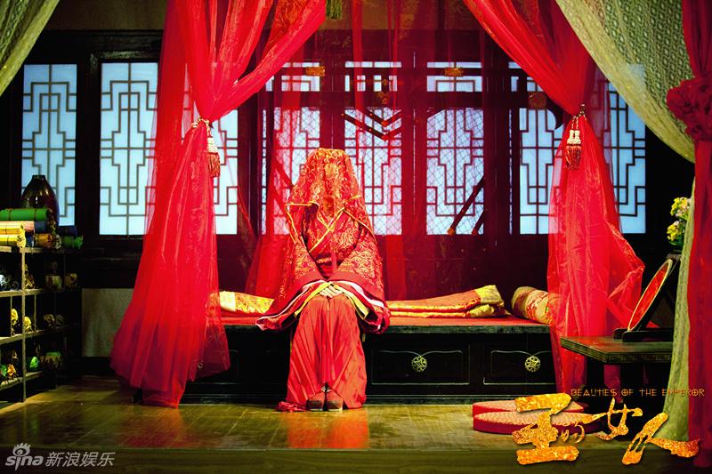 组图:《王的女人》陈乔恩嫁罗晋大婚照曝光 热