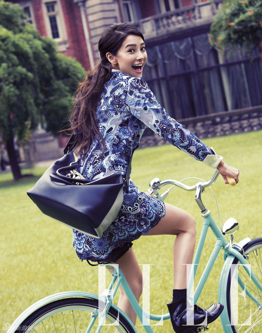angelababy单车少女范