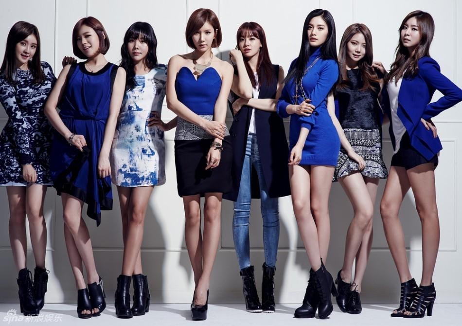 组图 韩女团AS型格写真 成员大秀美腿图片