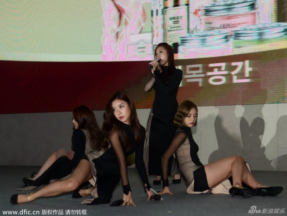 韩国美女组合girls+day开叉旗袍劲歌热舞