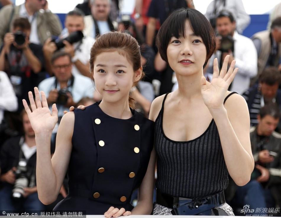 新浪娱乐讯当地电影5月20日,第67届戛纳电影节,韩国电影《道熙呀》论坛时间坛图片