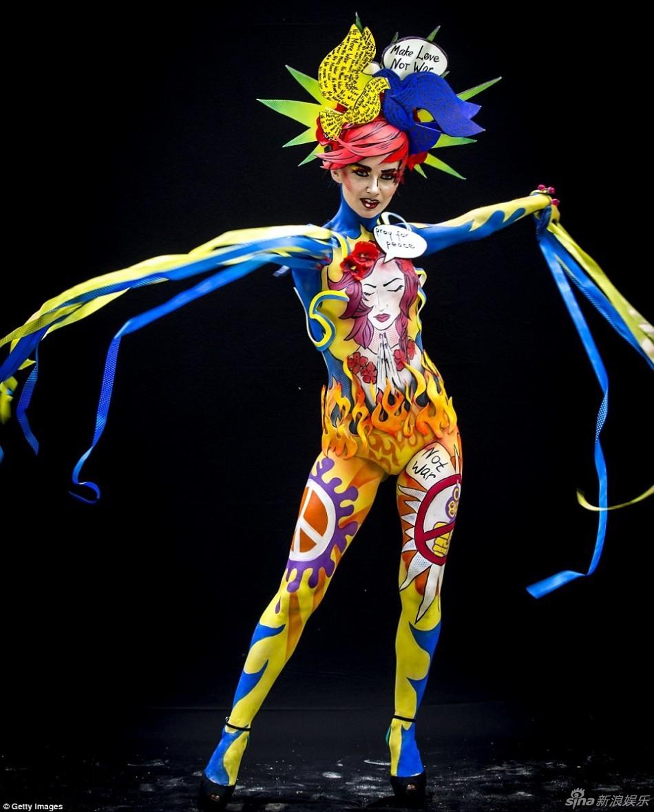顶级欧美欧美欧美人体艺术_组图:世界人体彩绘节举行 裸体模特造型闪瞎眼