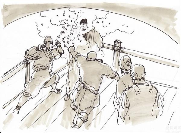 漫画家or导演?徐克手绘分镜图引膜拜