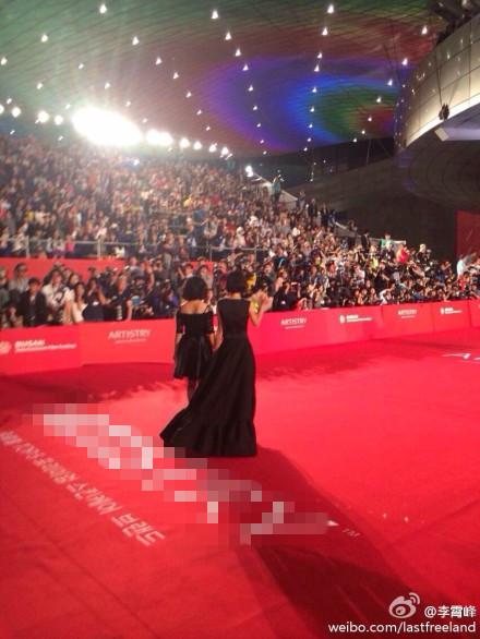 组图 少女哪吒 亮相釜山 两女主角红毯自拍图片