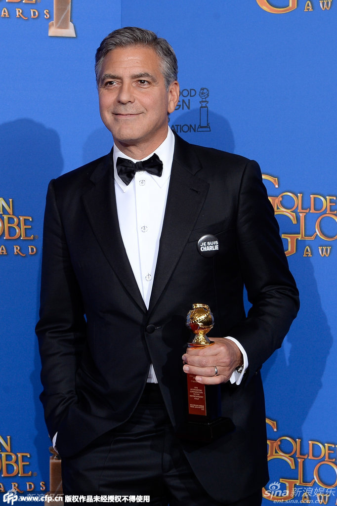 George Clooney at the Golden Globes January 2015 - Page 5 704_1528348_288458
