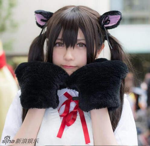 组图:日本美女coser变猫耳少女 媚眼甜笑诱人
