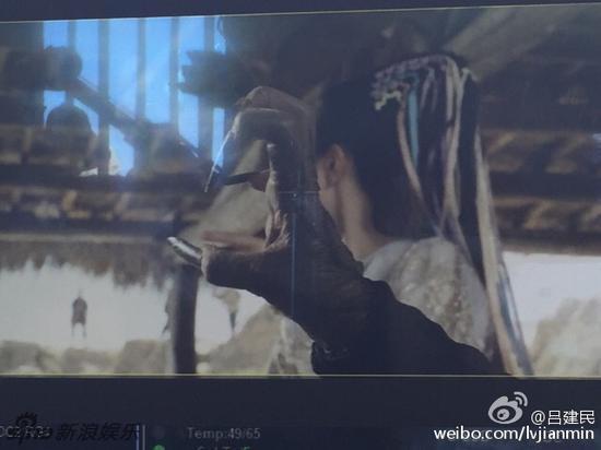 韩庚和唐嫣分饰至尊宝和紫霞仙子这对经典的情侣角色.-组图 大话3