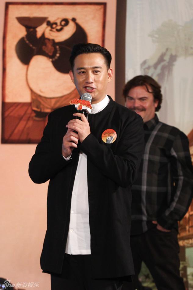 """新浪娱乐讯 4日,电影《功夫熊猫3》在京举行""""中美阿宝千里高清图片"""