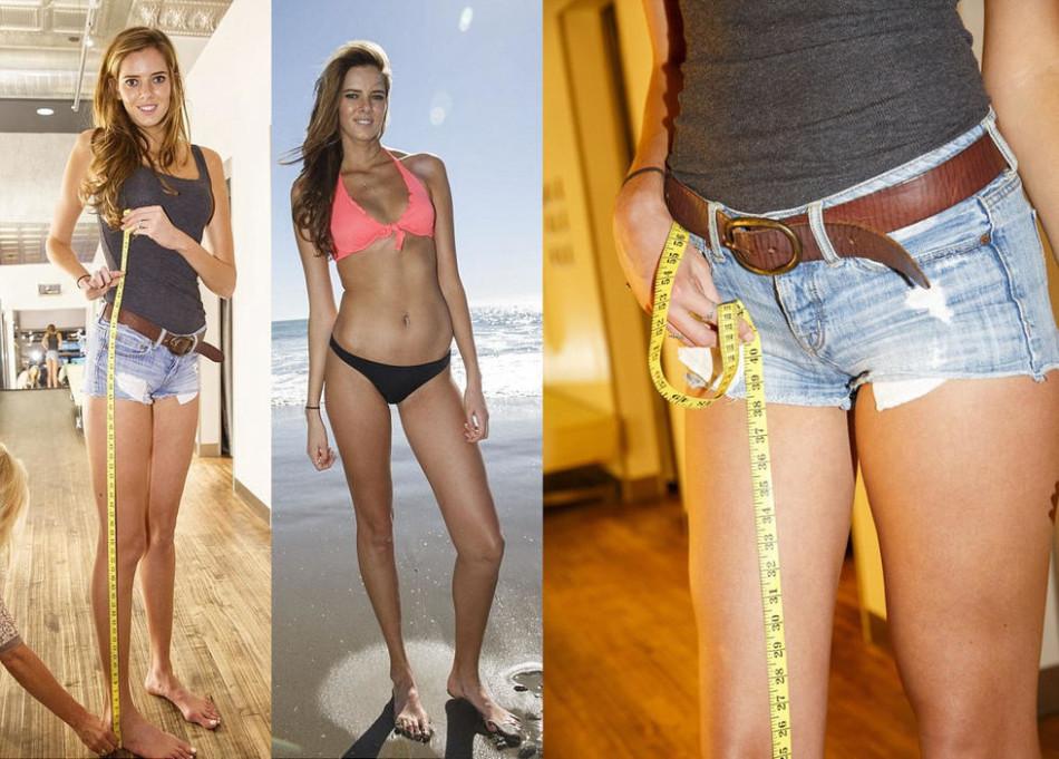 加州美女模特腿长1米3 因太高被公司婉拒没工作