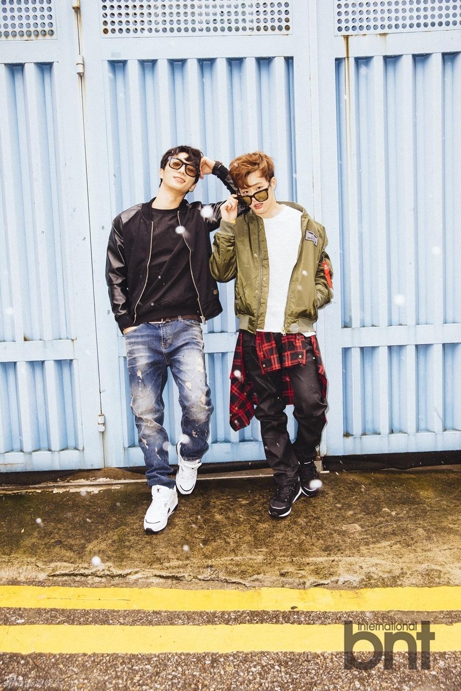 BIGSTAR成员Feeldog、来桓携手bntnews拍摄了一组时尚写真,飞