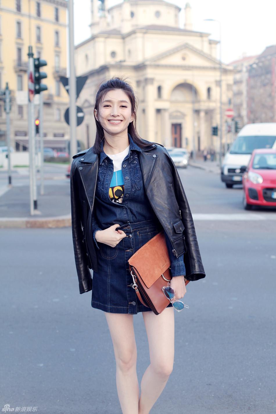 组图 江疏影街拍自组cp 实力强攻遇娇俏女友图片