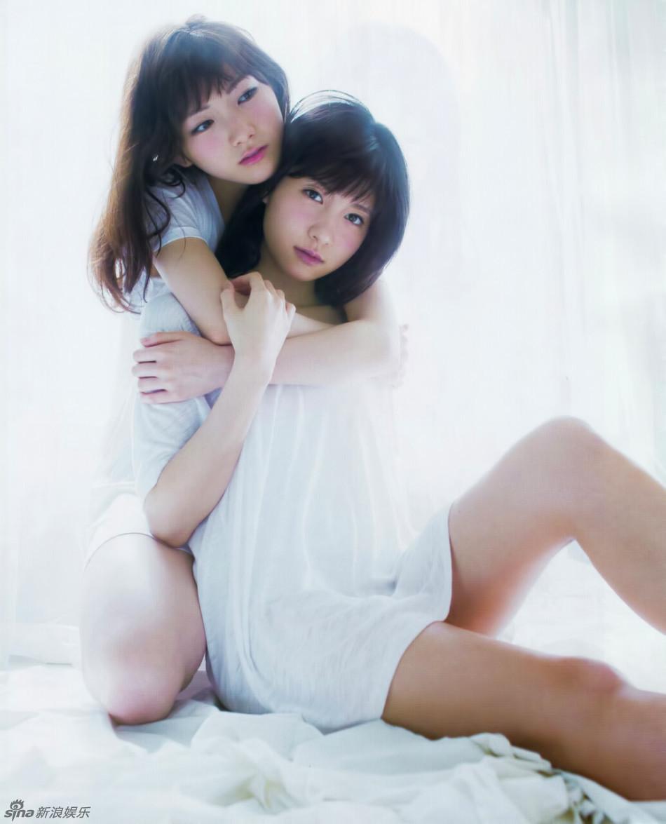 两性感女星冈田奈奈和谷口megu拍闺蜜大片