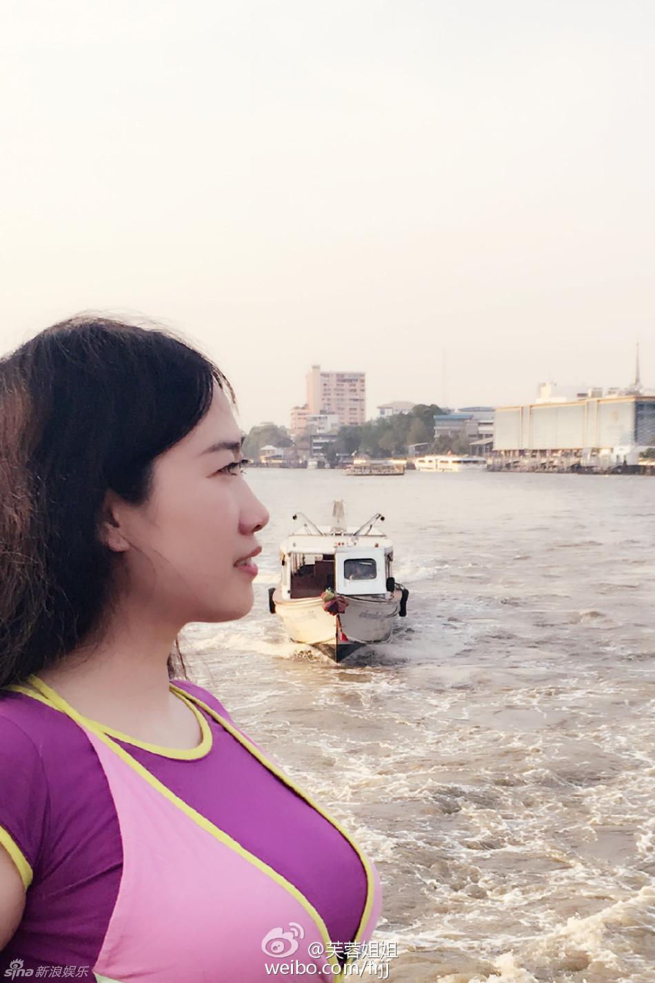 芙蓉姐姐晒曼谷旅游照 自嘲胖得旺夫 胸大惊人