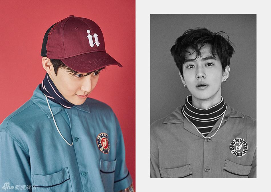 组图 EXO新曲造型刮复古风 灿烈红卷发惹眼