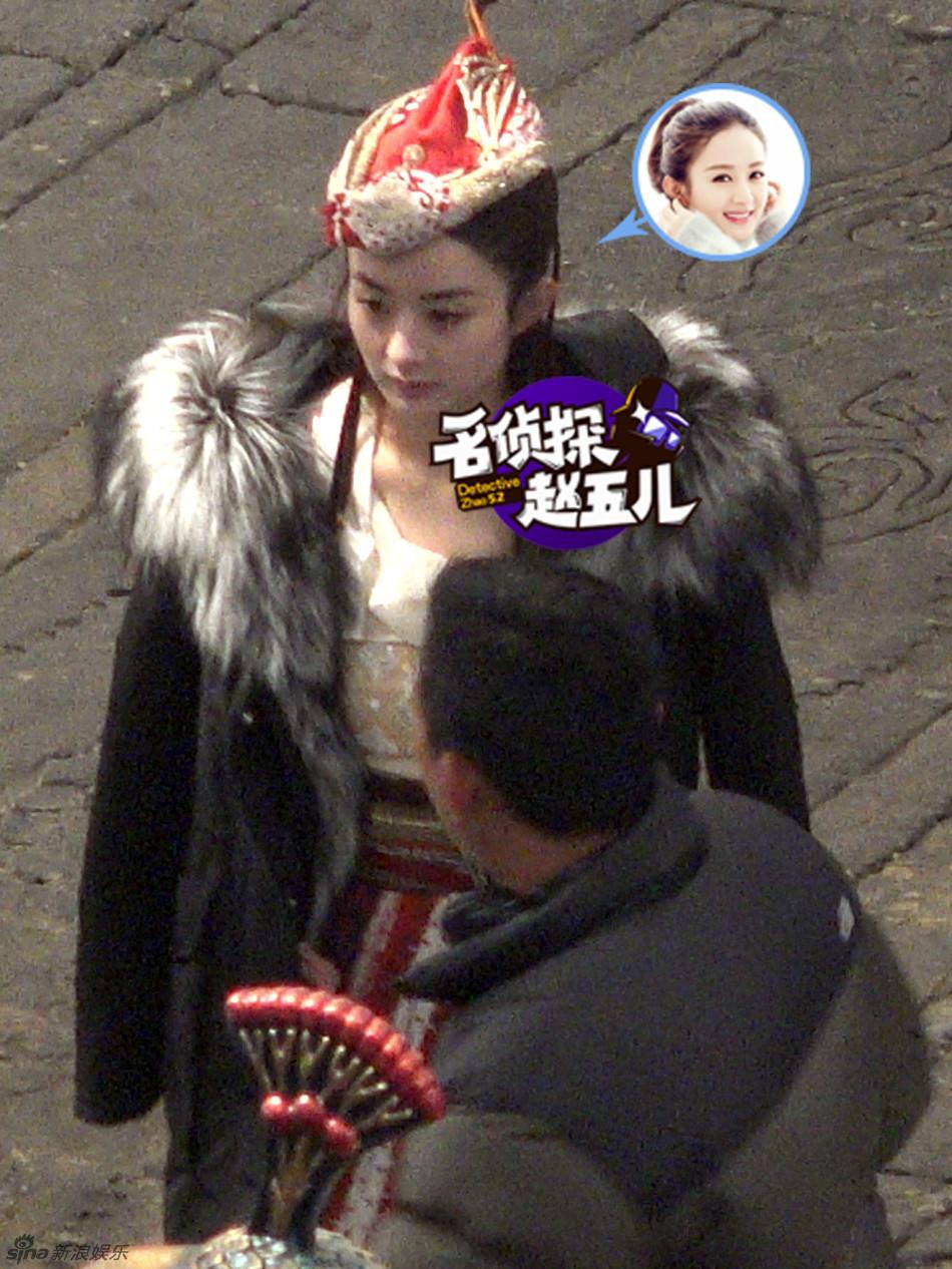 电影 西游记之女儿国 正在拍摄中, 赵丽颖 饰演的女儿国国王造型曝光