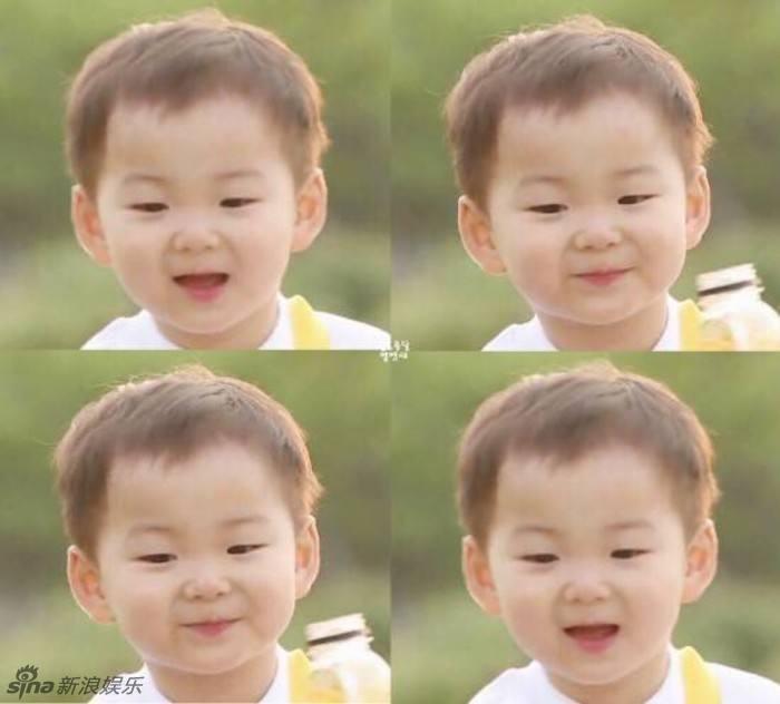 韩国演员宋一国的三胞胎儿子宋大韩,宋民国,宋万岁.