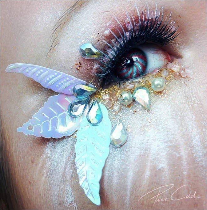分数除法算试并画图-国艺术家的眼部绘画如妖娆鲜花