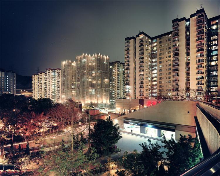 真实记录香港的街景.香港,繁华的国际化大都市.1997年7月1日,图片