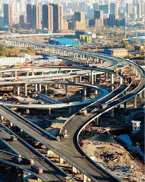 1月18日,西中环与南中环交接处的互通立交桥雄姿初现.据悉,这