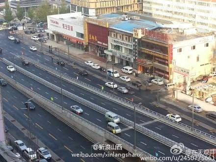 太原学府街通车 放行首日城南交通有所缓解