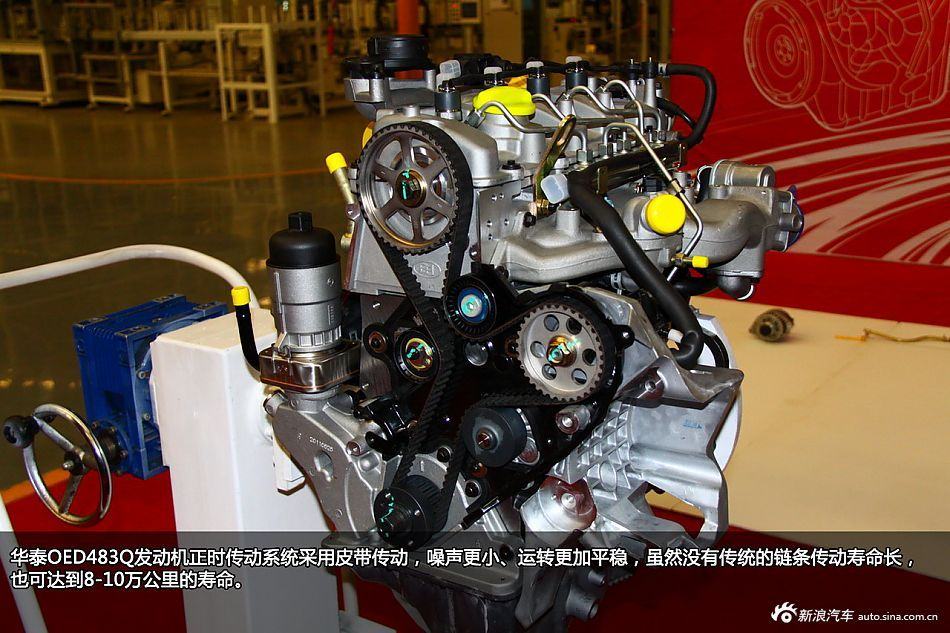泰汽车2.0T柴油发动机拆解图解高清图片