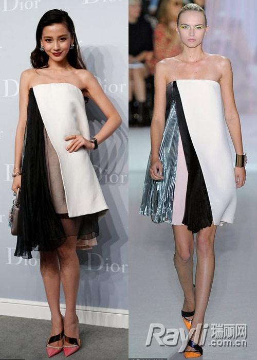 孟广美、超模吕燕等现身秀场,到场女星纷纷身穿Dior礼服一比高下图片