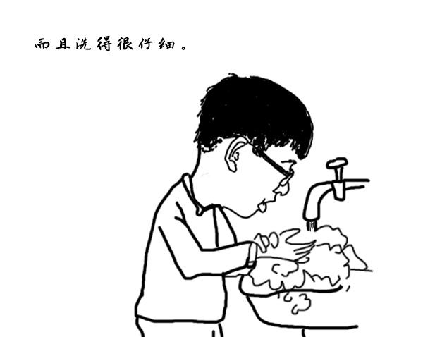 洗手简笔画步骤图