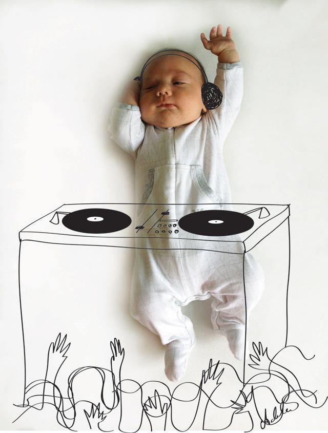 创意摄影:新生宝宝的白日梦