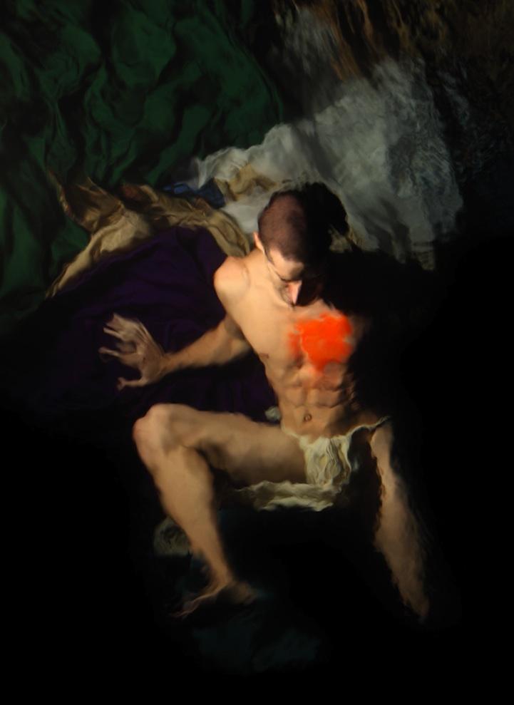 油画风格的创意水下人像摄影作品图片