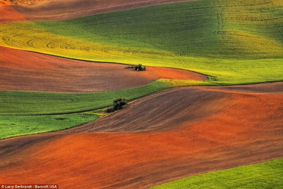 摄影师拍美国七彩乡村:色彩艳丽如同油画