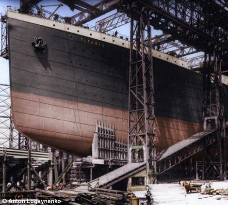 着色黑白照重现泰坦尼克号辉煌:套房奢华金贵图片