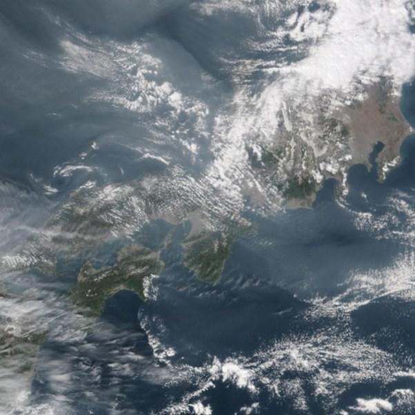朝鲜半岛卫星图.
