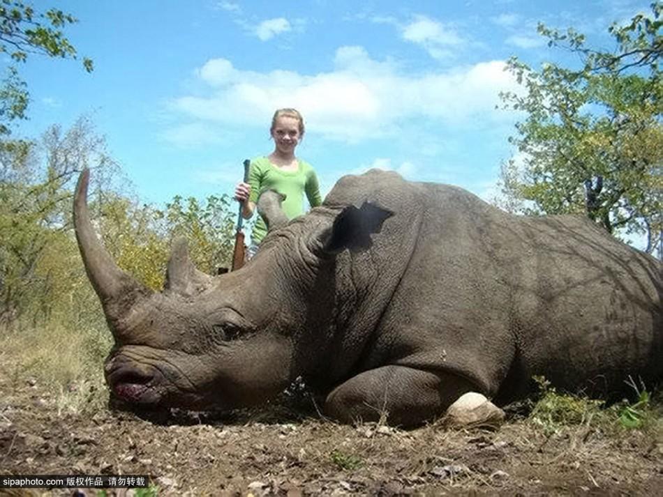 少女猎杀大量非洲野生动物:开心合影引发众怒